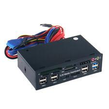 Computer Media Dashboard with SATA eSATA USB 3.0 2.0 Dual HUB 5in1 Card Reader