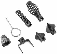 7 Piece Cutter Set Drain Cleaner Plumbing Snake Tool Cable Auger Clog Sewer Pipe