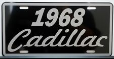 1968 68 CADILLAC METAL LICENSE PLATE ELDORADO COUPE DE VILLE SEDAN FLEETWOOD