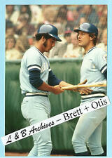 GEORGE BRETT & AMOS OTIS Royals 1976 Game photo