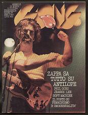 GONG 6/76 FRANK ZAPPA SOFT MACHINE PHIL OCHS LIGUORI ORCHESTRA COCA COLA POSTER