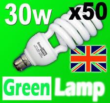 50 x 30w 2700k Warm Energy Saving CFL bulb BC B22