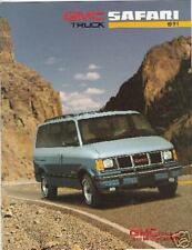Great Condition 1991 GMC SAFARI BROCHURE 91