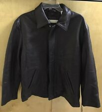 NWT Perry Ellis Jacket / Coat Brown Soft Leather nylon size L BLOWOUT CLEARANCE