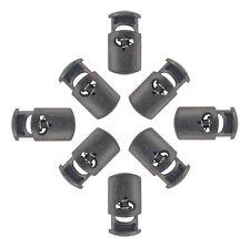 50 - Oval Cord Locks Black Plastic