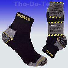 6 Paar Arbeitssocken, Kurzsocken, Komfortbund, Spitze/Ferse verstärkt, Baumwolle