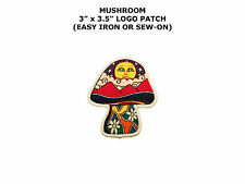 Mushroom Shroom Psychedelic Hippie Peace Embroidered Iron On Applique Patch