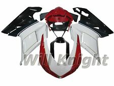 Red White Black Body Kit for Ducati 848 1098 1198 2007 2008 2009 2010 2011