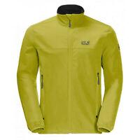 Jack Wolfskin Mens Crestview Zip Up Casual Jacket Lime 1305471 4038