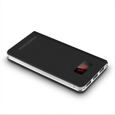 Portable Slim 50000mah 3 USB LCD Power Bank External 2led Backup Battery Charger Black