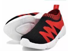 Tanggo Women's Sneakers Casual Slip-On 1001 (black/red) SIZE 38