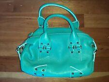 Cole Haan Turquoise Aqua Teal Leather Handbag Purse Hobo Satchel Village SP05