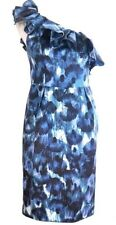 BNWT⛄️MONSOON ⛄️ Size 8 MONA ONE SHOULDER BLUE SILK MIX DRESS RRP £140 New