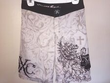 Men's Xtreme Couture Mma Boardshorts Sz 30 Fully Lined 4-Way Stretch