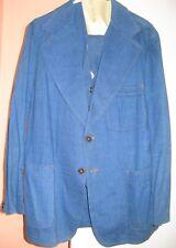 SIDRAN OF DALLAS DENIM SUIT 3 PIECES MIDNIGHT COWBOY size 42R Vintage 1970's