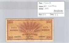 BILLET FINLANDE - 100 MARKKAA 1957