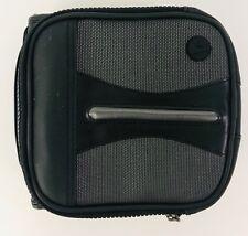 Fellows CD DVD Black Vinyl Case Discs Zip Around Button Handle Pocket Holds 32