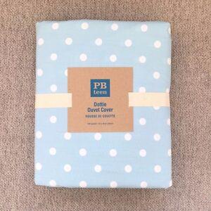 Pottery Barn Teen  Dottie duvet cover only Full Queen sky blue