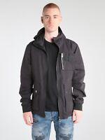883 Police Mens Designer Regular Fit Technical Nylon Hooded Bomber Jacket Coat