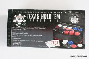 World Series of Poker 2036-WSOP Texas Hold'Em Poker Kit 200 Chip Set 4gm Travel