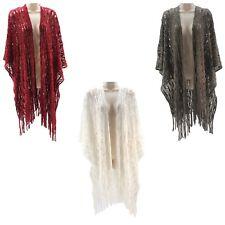Croft & Barrow Crochet Fashion Shawl for Women - One Size