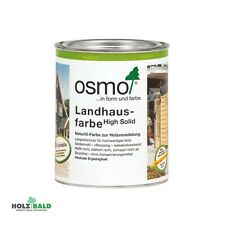 Osmo Landhausfarbe Holzfarbe Holzanstrich Farbe für Holz Holzfenster 0,75 l