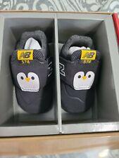 NEW Size 2 Kids 3-6 Months New Balance Black Penguin Shoes CV574AQP