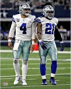 "Dak Prescott and Ezekiel Elliott Dallas Cowboys Unsigned 11"" x 14"" Photo"
