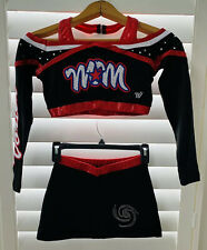 Cheerleading Uniforms w/ Stones - White, Red, Black, 6 Of These Are Available.
