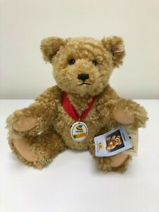 """STEIFF """"VEDES"""" GORGEOUS CURLY MOHAIR BEAR - GREAT CONDITION -VERY COLLECTABLE"""