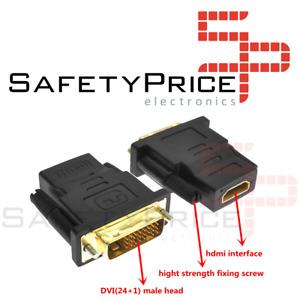 ADAPTADOR CONVERSOR HDMI HEMBRA A DVI (24 + 1) MACHO CONECTOR REF866