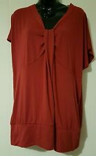 Ladies size 22 Red Vneck Top-BNWT FREE POST IN AUS