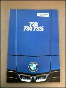 1977 BMW 728 730 733i 48-page Original Car Sales Brochure Catalog