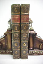 1828 LORD BYRON AND HIS CONTEMPORARIES Beautiful Leather Set LEIGH HUNT Italy