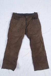 Highway 1 Fashion Nubuk Lederjeans Größe 54 Lederhose Braun Hose Leder