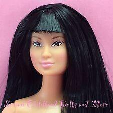 Barbie LEA KAYLA FACE ASIAN Jet Black Hair Bangs Brown Eye Ethnic Doll J11