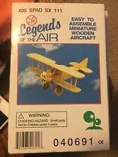 NEW IN BOX! Legends of the Air #405 Spad SX 111 Miniature Wooden Aircraft