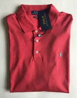 $85 NWT Mens Polo Ralph Lauren Classic Fit Knit Short Sleeve Shirt Spring Red L