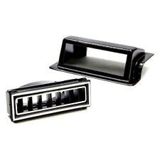 Vintage Air 49151-Vul Black/Chrome Rectangle Kick Panel Pass Side Louver