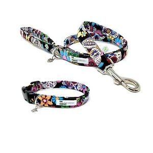 Sugar Skull, Mexican Day of the Dead, Dog Collar and Optional Matching Lead Set