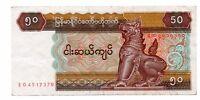 Billete de MYANMAR (BIRMANIA) 50 kIATS 1994  circulado serie EO  Ref.140