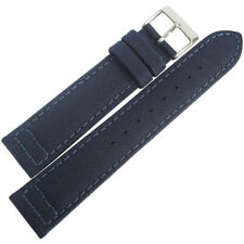 20mm Hadley-Roma MS850 Mens Navy Blue Cordura Canvas Vegan Watch Band Strap