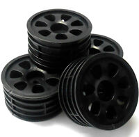 1/10 Scale Nitro RC Car On Road Wheel x 4 Black 7 Spoke