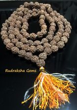 RUDRAKSHA 12mm RUDRAKSH JAPA MALA ROSARY 108+1 RAW BEADS PRAYER YOGA MEDITATION