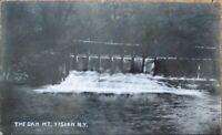 Mt./Mount Vision, NY 1909 Realphoto Postcard: The Dam - New York