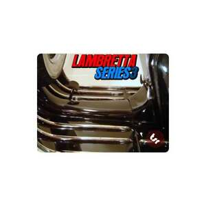 LAMBRETTA Series 3 Stainless Steel Legshield/Floor Board Runner Strip Kit LI/SX