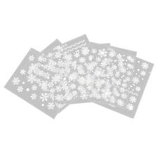 Fashion 6 Sheets Snowflake 3D Nail Art Stickers Decal Tip DIY Decoration B4K3