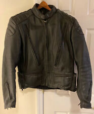 FIRST GEAR Black Leather Armored Motorcycle Jacket Armor - Protective Inserts