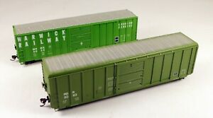 (2) Roundhouse 50' Box Car Warwick RR/MDR #5055/8083 1/87 HO Scale #6 NO BOX