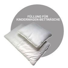 2 tlg. Set Kinderwagen Bettwäsche NUR FÜLLUNG 70 x 50 cm * Decke + Kissen * NEU